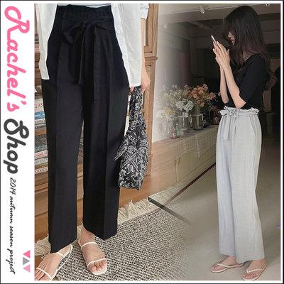 韓國空運*cherrykoko花苞鬆緊高腰綁帶透氣亞麻寬褲[CK-CB04GELO2]Rachel's Shop