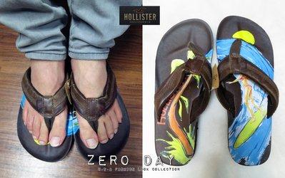 【零時差美國時尚網】HCO Hollister co.Flip Flops衝浪女郎塗鴉真皮人字拖鞋/夾腳拖鞋