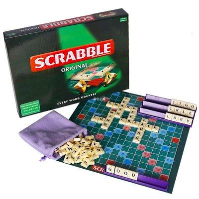 藍色記憶 SCRABBLE英文填拼字單詞早教益智小學英語字母接龍零基礎教材游戲