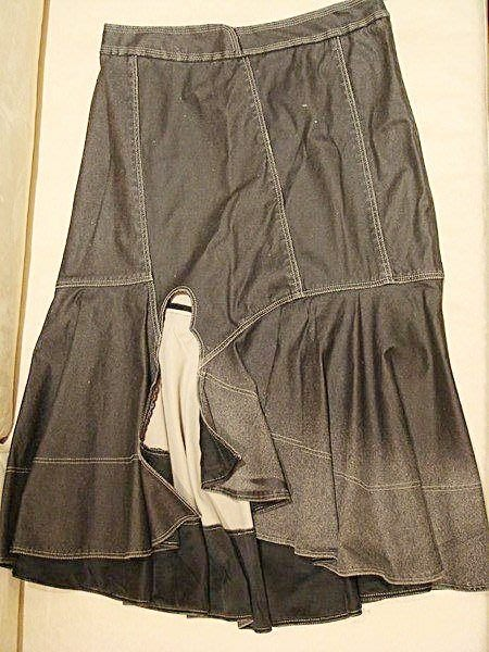 降價大出清!全新萊卡佛設計師副牌 Anita Su 灰黑色質感超好的魚尾裙, 性感有型!低價起標無底價!本商品免運費!
