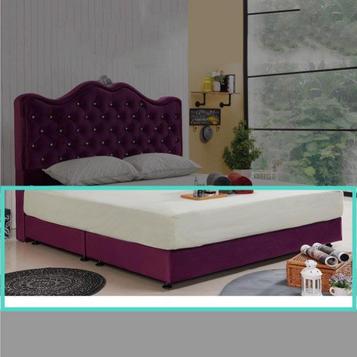 【DH】貨品N579-9名稱《尊爵》5尺紫色絨布雙人床底腳高6CM(圖一)備有13CM可選.台灣製.可訂做主要地區免運費