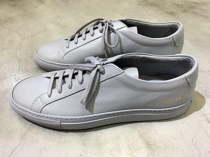 代購【COMMON PROJECTS】ORIGINAL ACHILLES皮革休閒鞋 水泥灰*30%OFF*