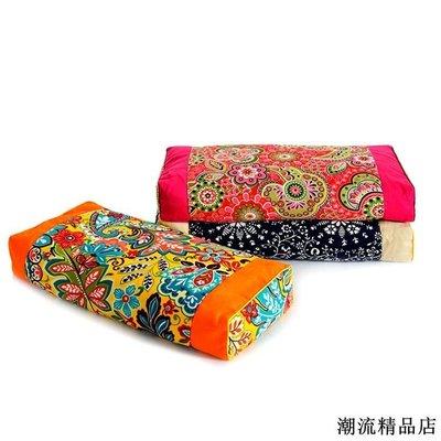 純棉老粗布民族風蕎麥殼枕芯家用單人枕頭護頸枕可水洗(