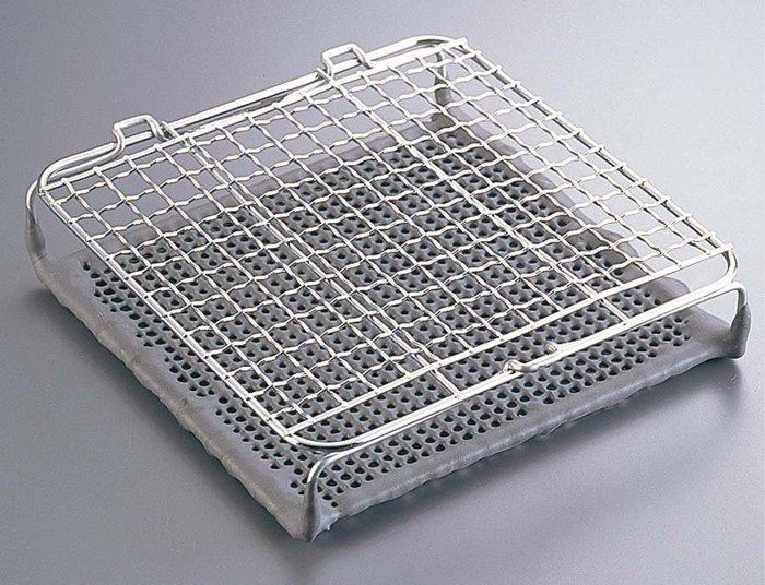 日本丸十金網 京都金網 魚燒器 魚烤架 金屬陶瓷雙層燒烤網(大款)日本製 空運來台  限時優惠