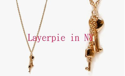 《Layerpie in NY》Forever21 F21 Heart Shaped Key 愛心鑰匙串長項鍊