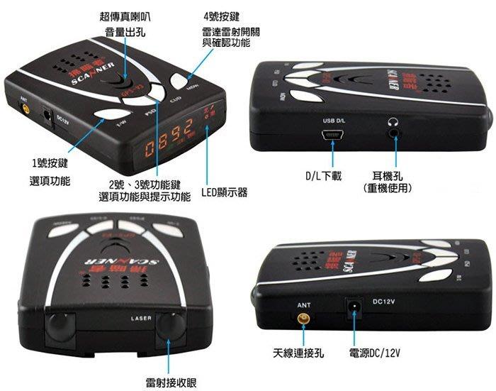 【全昇音響】掃瞄者 GPS-W3 測速器 台灣製 衛星定位 內建雷射接收眼
