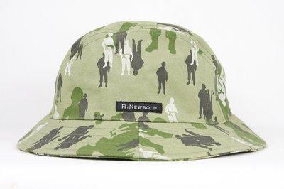 【古物箱~霹靂膠囊】日本潮牌 R.NEWBOLD 大兵 軍人 印花 迷彩 漁夫帽 網球帽(二手 古著 老件)
