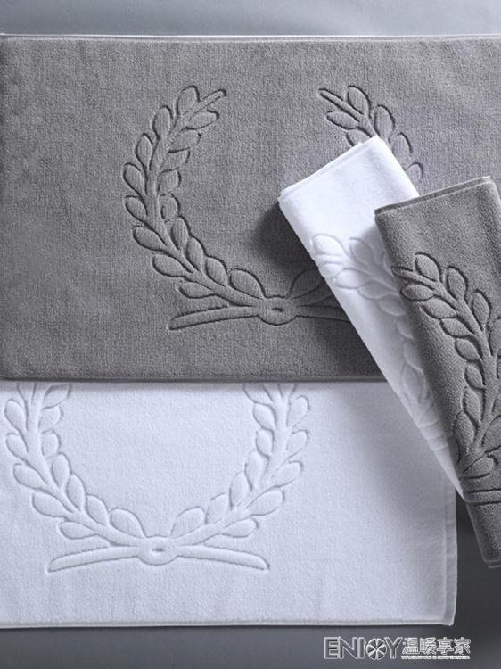 鬆樹林地巾純棉浴室防滑地墊衛生間全棉加厚吸水可機洗 免運