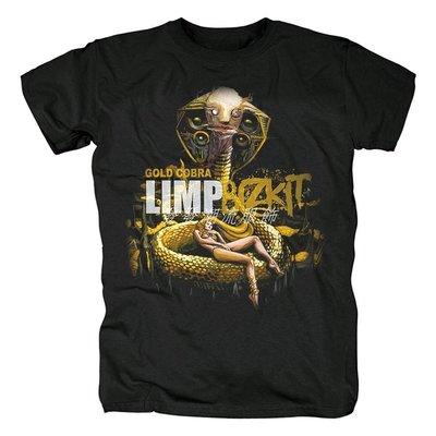 發發潮流服飾軟餅干Limp Bizkit說唱金屬搖滾Ready To Go專輯封面黑長短袖T恤