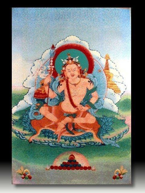 【 金王記拍寶網 】S731 中國西藏藏密佛像刺繡唐卡 密宗唐卡一張 完美罕見~