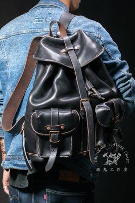 手工製作【酒鬼謹制】霍爾文 Horween Chromexcel Leather RRL 傘兵包/後背包/雙肩包/側背包
