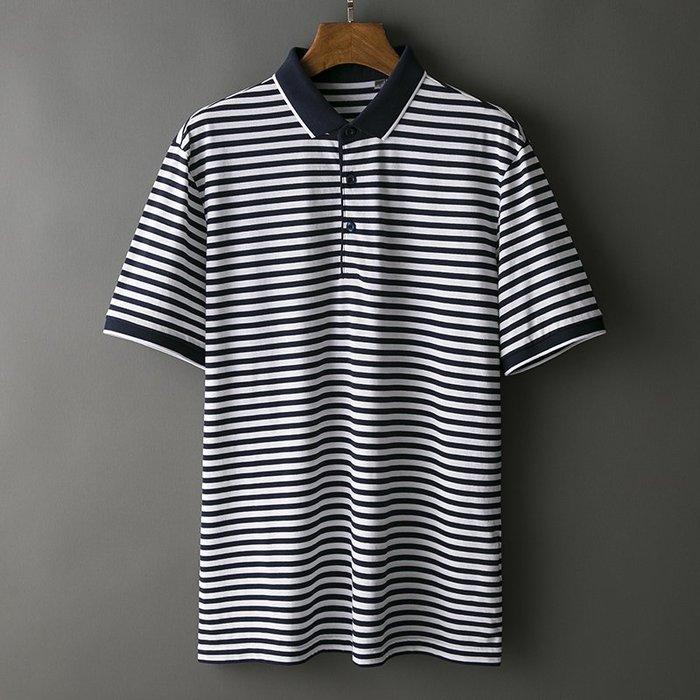 [C.M.平價精品館]新品特價165~180紳士品味經典條紋短袖POLO衫