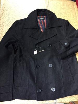 [變身館日本服飾]~Suggestion~西裝~排扣外套~毛料~海軍釦~外套~立領~日本購入~全新現品~L~黑