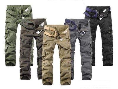 韓版美式軍裝造型風格百搭多口袋工作褲 工作長褲 28腰到38腰
