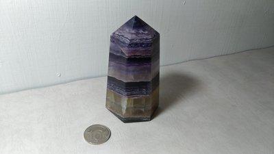 天然螢石柱~開運能量~重約560克~編號CT16-6