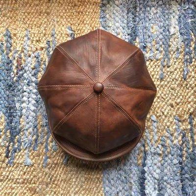 Sturdy 手染馬皮報童帽 日本製全新品 咖啡色