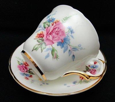 【timekeeper】  英國絕版名瓷Regency華麗重金咖啡杯+盤-1(免運)