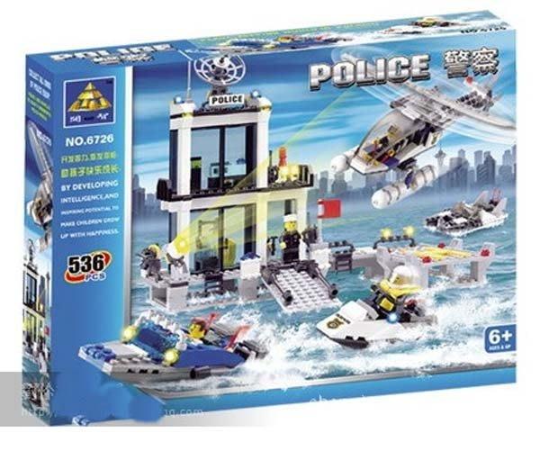 開智積木 6726 CITY 城市系列 海上警察局 飛機汽艇警察  536PCS  非樂高LEGO積木可與LEGO相容