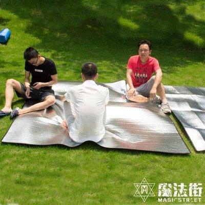 防潮墊戶外野餐墊單人雙人帳篷睡墊鋁膜加厚露營沙灘墊