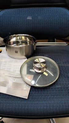 雙人牌單柄小湯鍋,泡麵鍋,牛奶鍋,德國雙人牌16cm,附贈玻璃上蓋(有刮痕) 無外盒