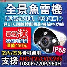 安研所監視-1080P 全景 170度 AHD 防水 IP68 紅外線 攝影機適 H.265  4路 5MP  DVR