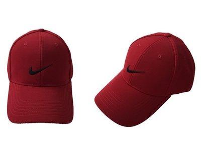全新 現貨 NIKE GOLF 棒球帽 魔鬼氈 帽子 老帽 可調式 運動帽 高透氣高爾夫帽 基本 素面 紅色 大紅