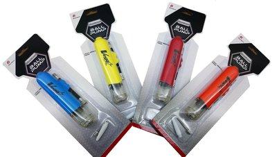 體育課 VEGA 6吋美式雙向打氣筒 VGB-1506  藍/黃/紅/橘,共四色供選擇 方便攜帶 團體訂購