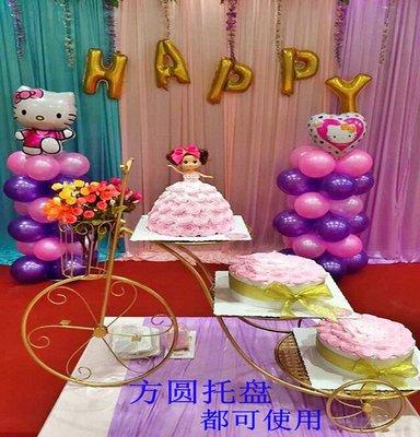 新款歐式創意鐵藝蛋糕架自行車婚慶三層糕...