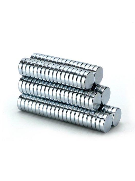 小花精品店-圓形磁鐵強磁強力小磁鐵高強度強力銣釹鐵硼磁鐵片超強磁鋼吸鐵石