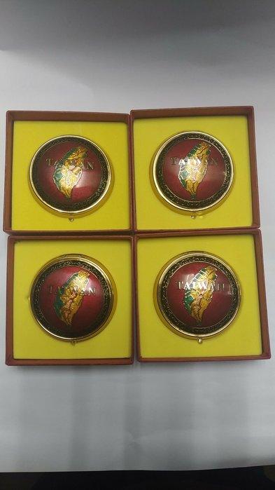 庫存出清 景泰藍珠寶盒 七寶燒珠寶盒 台灣圖案珠寶盒 首飾盒