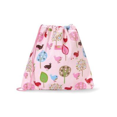 〖Blue Bow〗澳洲Penny Scallan防潑水帆布抽繩背包 游泳袋 運動袋 補習袋--Chirpy Bird