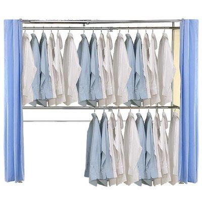 【中華批發網DIY家具】AH-05-(雙桿)伸縮防塵衣櫥-(前罩2片)不織布