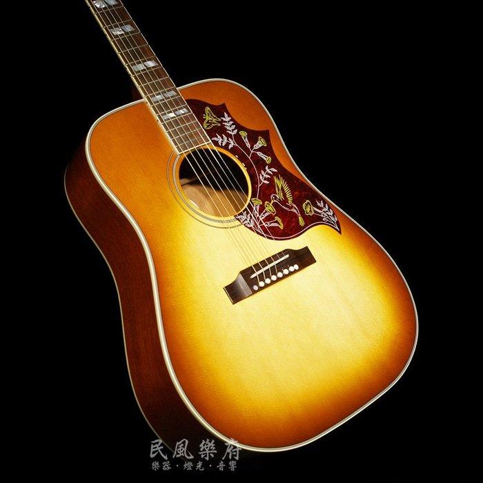《民風樂府 》美國原廠 Gibson Hummingbird HC  蜂鳥 蜂蜜漸層 全新現琴在店 歡迎議價