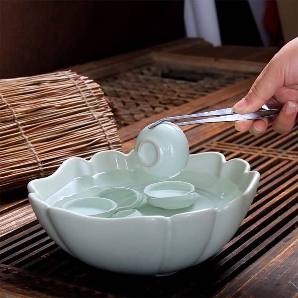 5Cgo【茗道】含稅會員有優惠 38193383553 汝窯茶洗洗茶碗大號碼水洗功夫茶道配件開片洗茶杯碗水茶盆