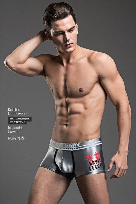 韓國歐爸最愛的蠶絲觸感男內褲.檔部有透氣網點下面散熱快冰絲涼感夏天舒服~黑/藍/紅/銀共4色~M/L/XL~每件189元