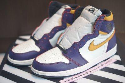 Jordan 1 Retro High OG Defiant SB Lakers CD6578-507 湖人 附驗鞋證明