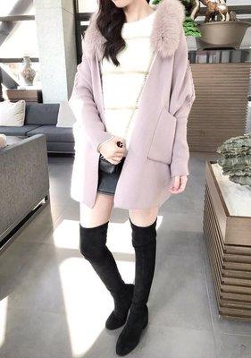 小艾莉-正韓-狐狸毛毛針織外套-D010701