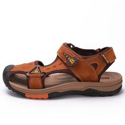 涼 鞋 真皮拖鞋-戶外休閒防滑耐磨男鞋子4色73sa1[獨家進口][米蘭精品]