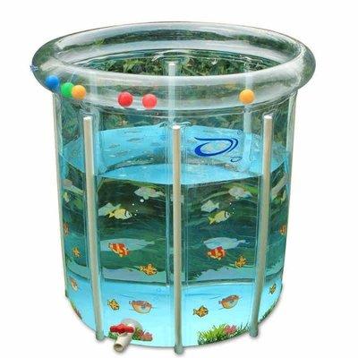 現貨/嬰兒游泳池家用新生兒童寶寶游泳池充氣保溫透明支架游泳池洗澡桶36SP5RL/ 最低促銷價