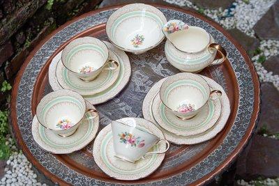 【旭鑫骨瓷】Paragon金邊印花玫瑰系列 英國 瓷器 骨瓷 古董 杯組 (C.23)