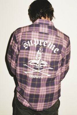 【紐約范特西】預購 SUPREME SS21 HYSTERIC GLAMOUR Plaid Flannel Shirt