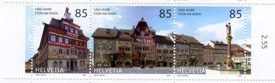 2007瑞士聯刷票漂亮古街道Stein Am Rein.古屋外牆盡是古畫.google鍵入此名可慢慢欣賞美景