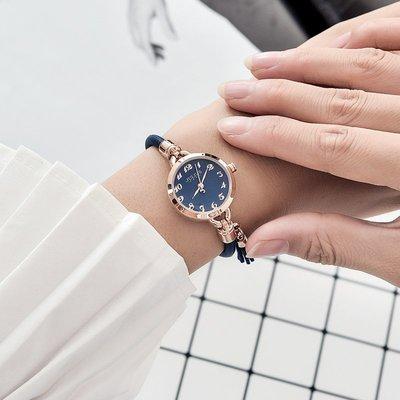 手錶聚利時手表女款學生韓版簡約防水女士手表時尚氣質百搭復古手鏈表