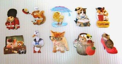 日本 Flake Stickers 動物(01) 貼紙(10枚)