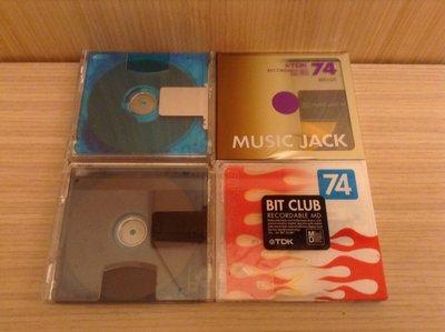 TDK recordable MD Mini Disk 可錄空白片 日本製 兩全新+兩已拆 共四片 全都可錄74分
