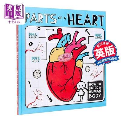 How to Build a Human Body:Parts of a Heart 人體機能課 心臟的躍動 兒童生理知識科普繪本 精裝 英文原版