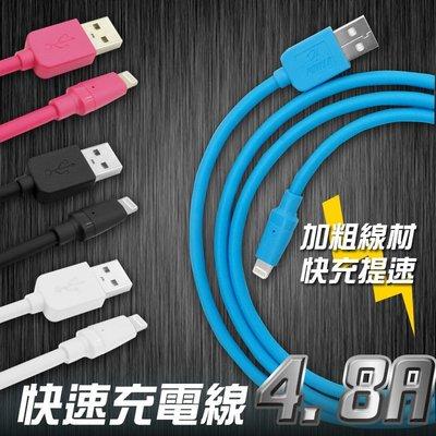 【支援12快充】 高乘載 4.8A大電流 QC3.0高速 快充線 傳輸線 加粗更耐用 TYPEC IPHONE USB