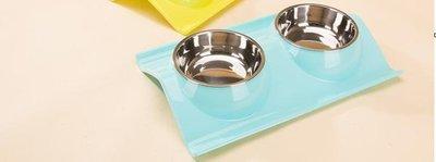 寵物狗碗貓碗貓咪狗狗用品小狗盆貓盆泰迪狗食盆自動飲水雙碗飯盆