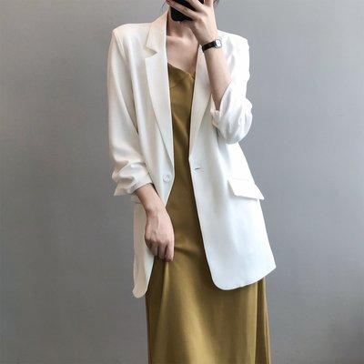 新品首刊滑順垂感初秋薄外套 七分袖口抓褶薄款西裝外套 艾爾莎【TAE8496】