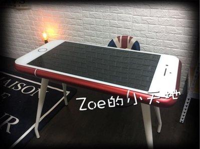 Zoe的小天地 蘋果桌子 電腦桌子 造型桌子 iPhone桌 紅色 粉紅色 香檳金 (黑色新款)